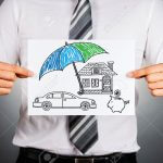 40928122-Life-insurance-concept-Businessman-holding-paper-with-drawing-of-a-house-car-and-money-symbols-under-Stock-Photo